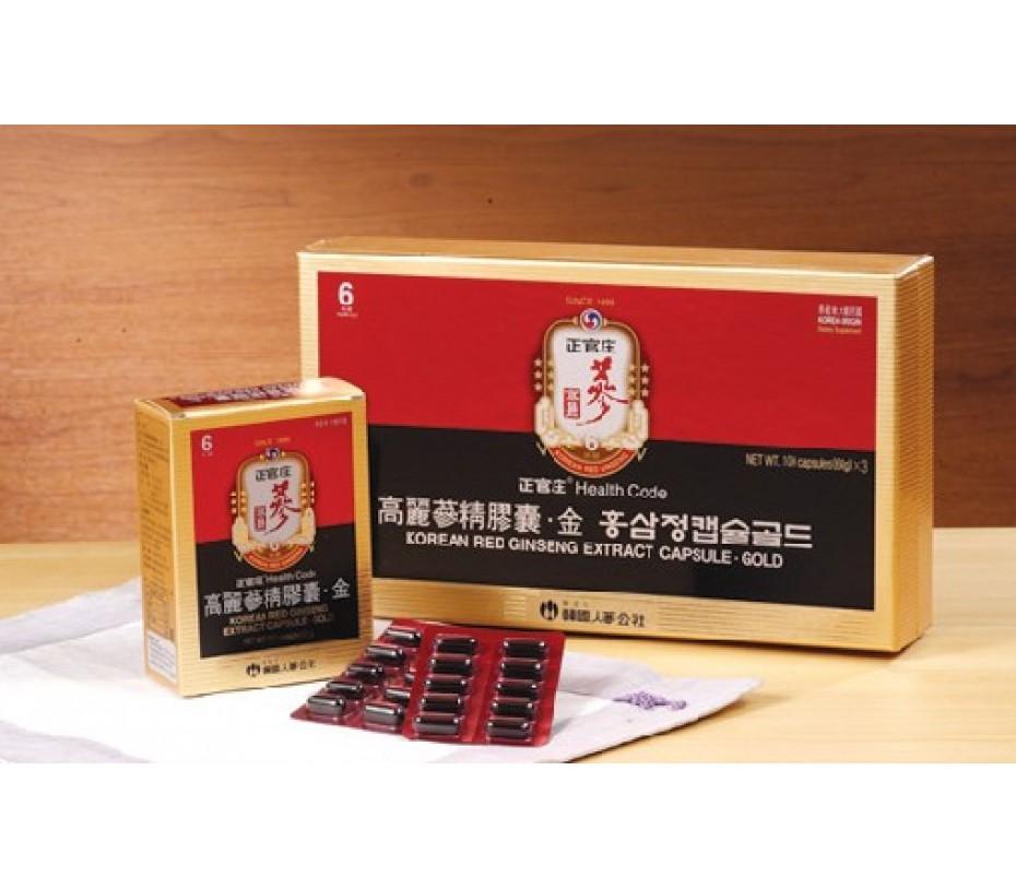 Cheong-Kwan-Jang Korean Red Ginseng Extract Capsule Gold 100 capsule (60g)