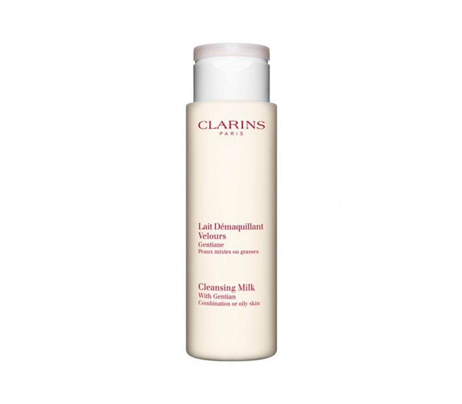 Clarins Cleansing Milk with Gentian (Combination to Oily Skin) 7oz/198g