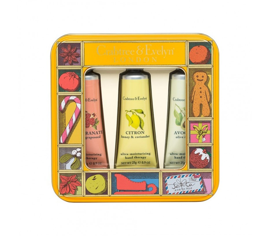 Crabtree & Evelyn Botanical Hand Therapy Trio Tin