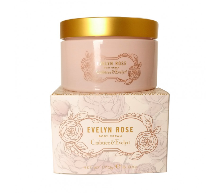 Crabtree & Evelyn Evelyn Rose Body Cream 6.0oz/170g