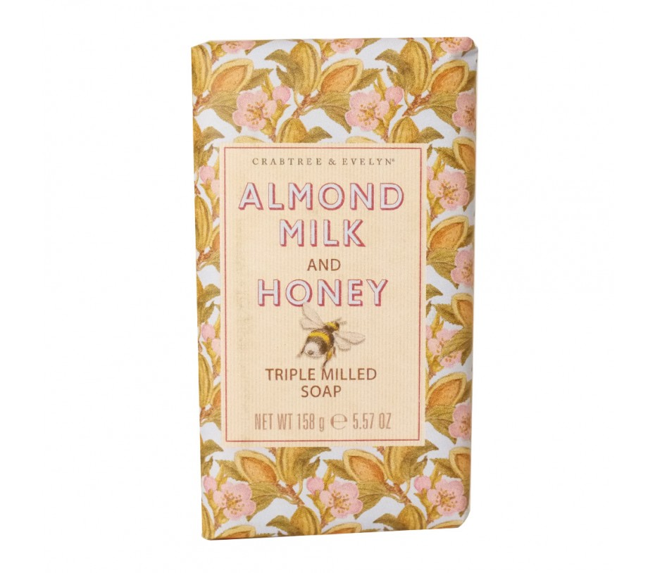 Crabtree & Evelyn French Milled Soap Almond Milk and Honey Soap 5.57oz/158g