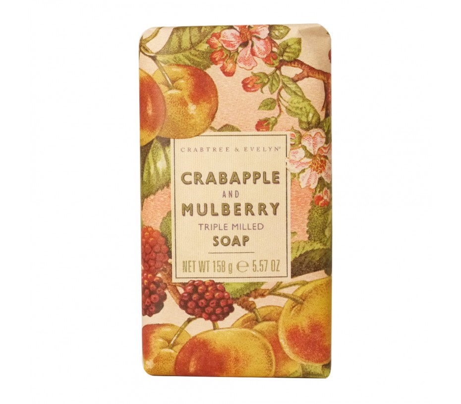 Crabtree & Evelyn French Milled Soap Crabapple and Mulberry Soap 5.57oz/158g