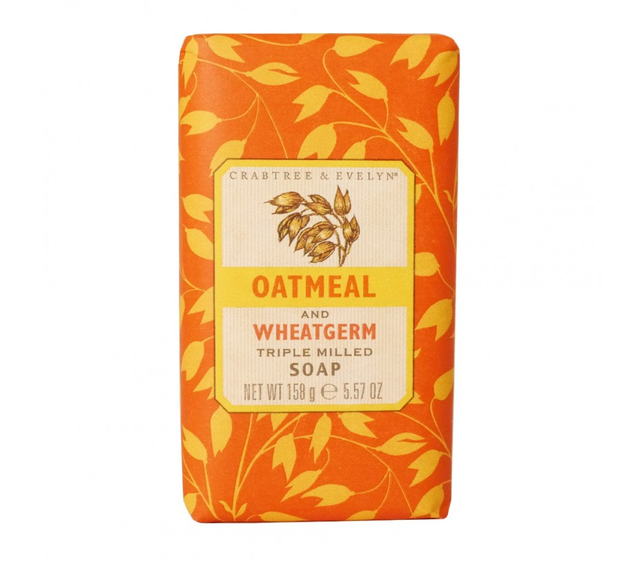 Crabtree & Evelyn French Milled Soap Oatmeal and Wheatgerm Soap 5.57oz/158g