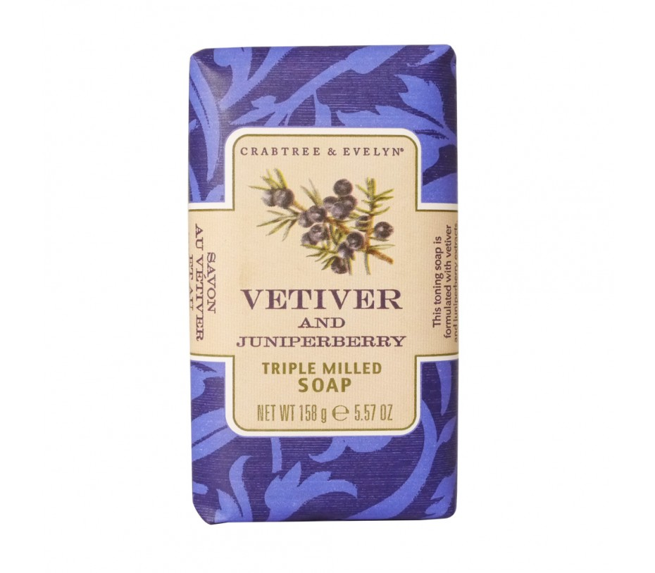 Crabtree & Evelyn French Milled Soap Vetiver and Juniperberry Soap 5.57oz/158g