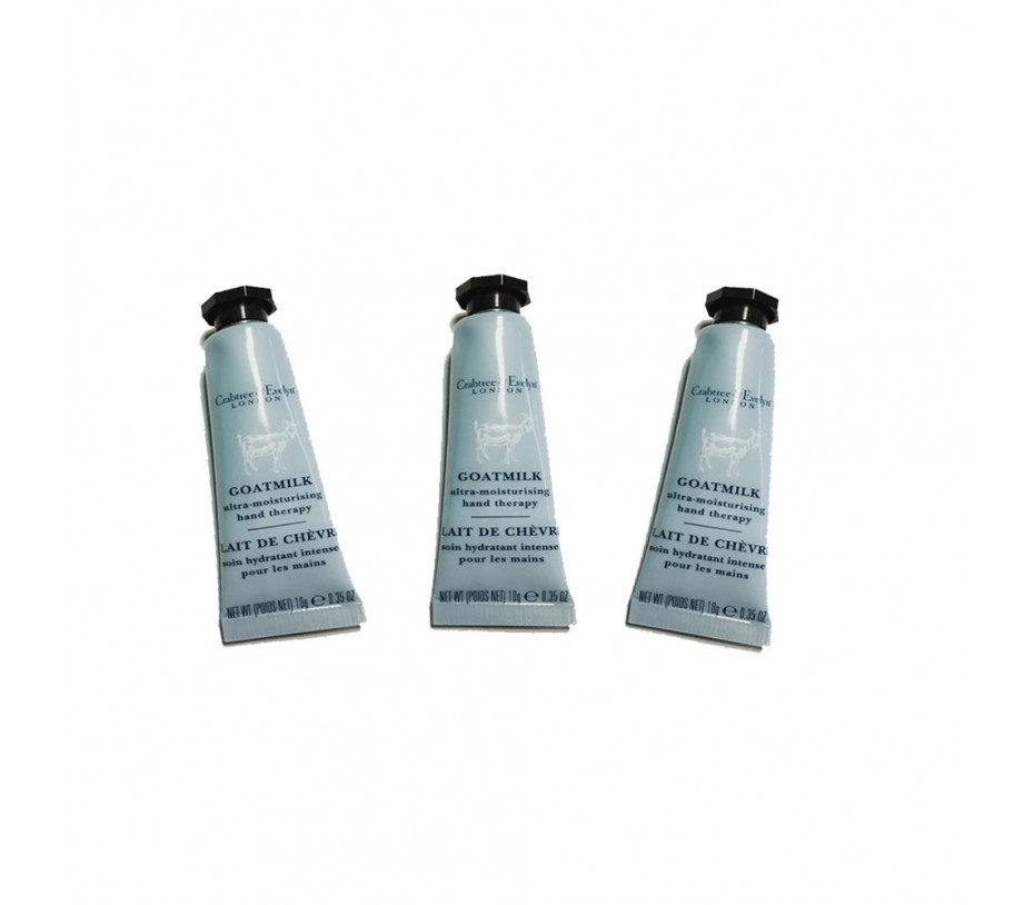 Crabtree & Evelyn Goat Milk Ultra -Moisturising Hand Therapy (Pack of 3) 0.35oz/9.9g