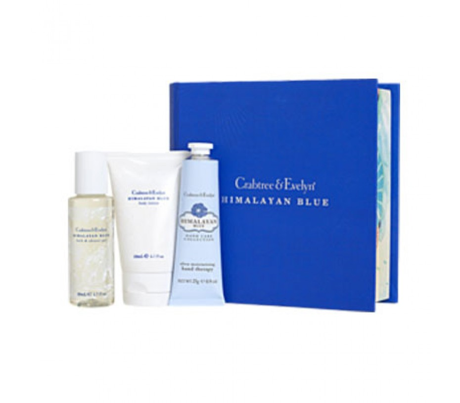 Crabtree & Evelyn Himalayan Blue Little Luxuries Mini Book Gift Set
