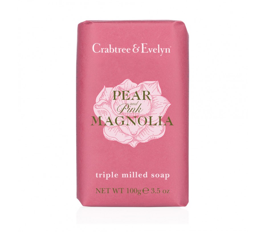 Crabtree & Evelyn Pear & Pink Magnolia Triple Milled Soap 3.5oz/99g