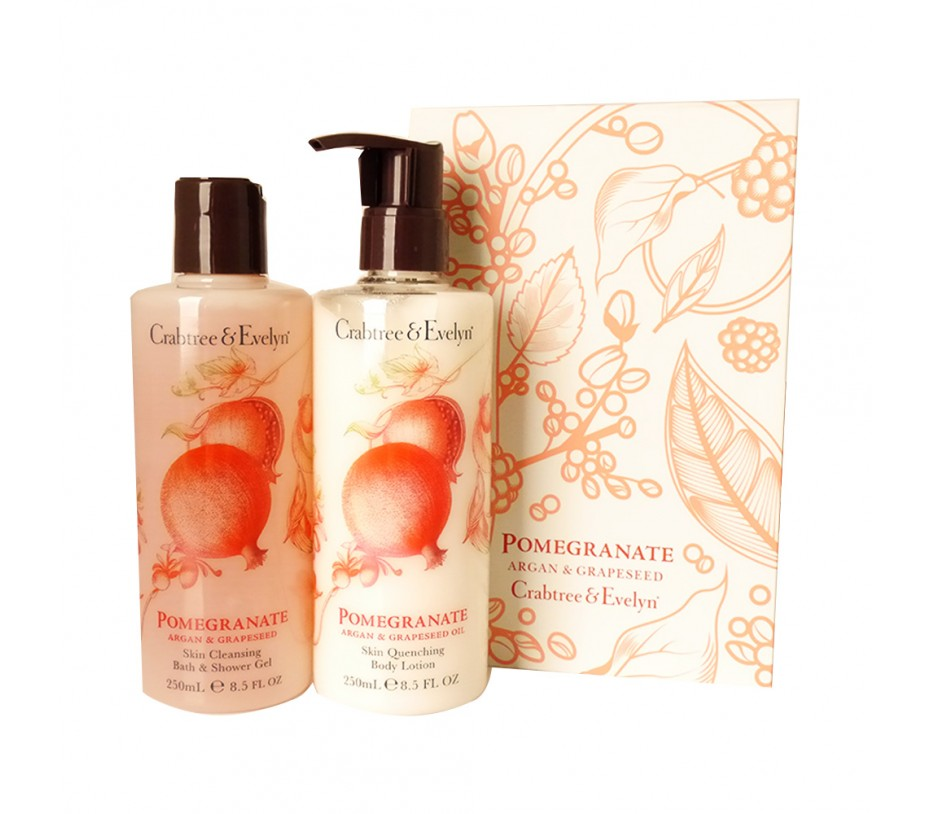 Crabtree & Evelyn Pomegranate Argan & Grapseed Oil Perfect Pair