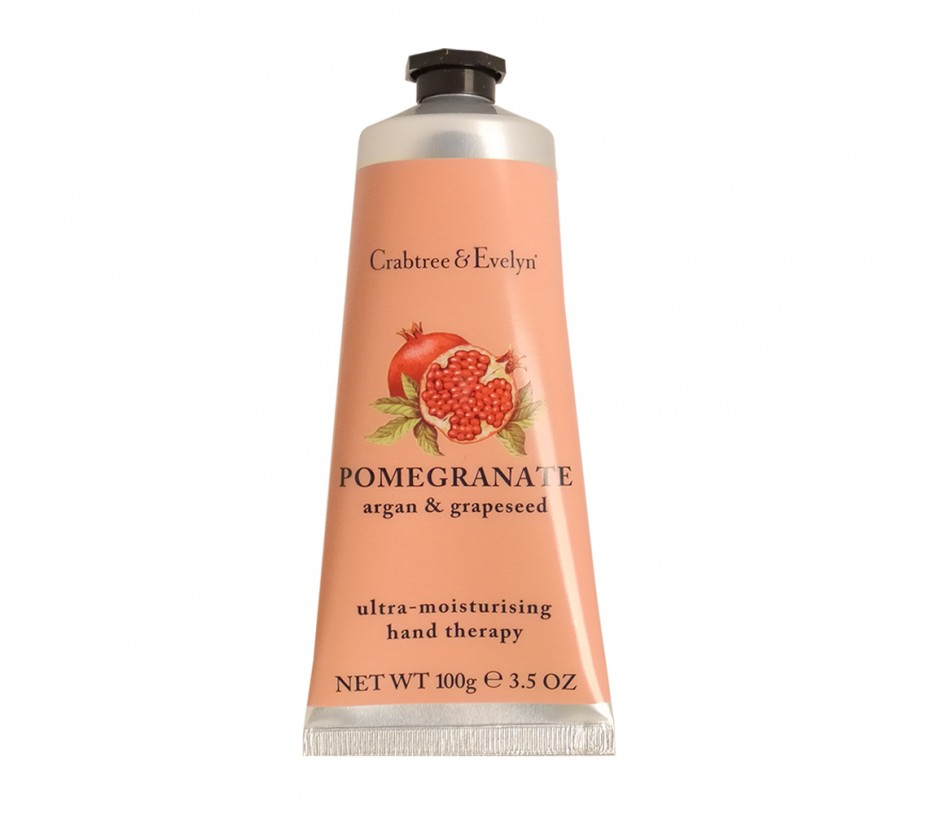 Crabtree & Evelyn Pomegranate Argan & Grapseed Oil Ultra-Moisturising Hand Therapy 3.5oz/99g