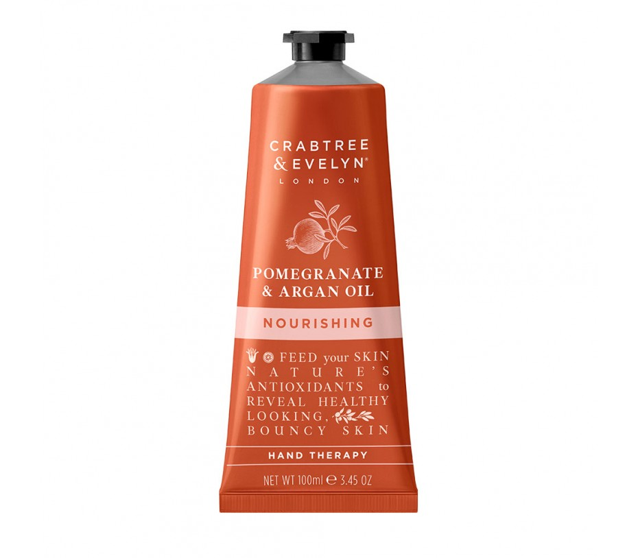 Crabtree & Evelyn Pomegranate Argan Oil Nourishing Hand Therapy 3.45fl.oz/100g