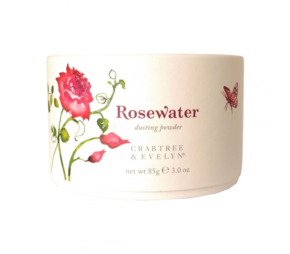 Crabtree & Evelyn Rosewater Dusting Powder 3oz/85g