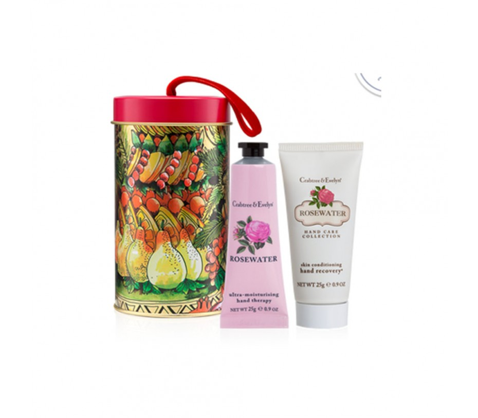 Crabtree & Evelyn Rosewater Hand Care Ornament Tin