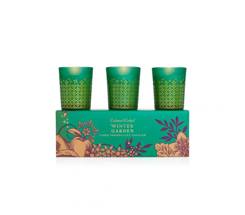 Crabtree & Evelyn Winter Garden Three Fragranced Candles