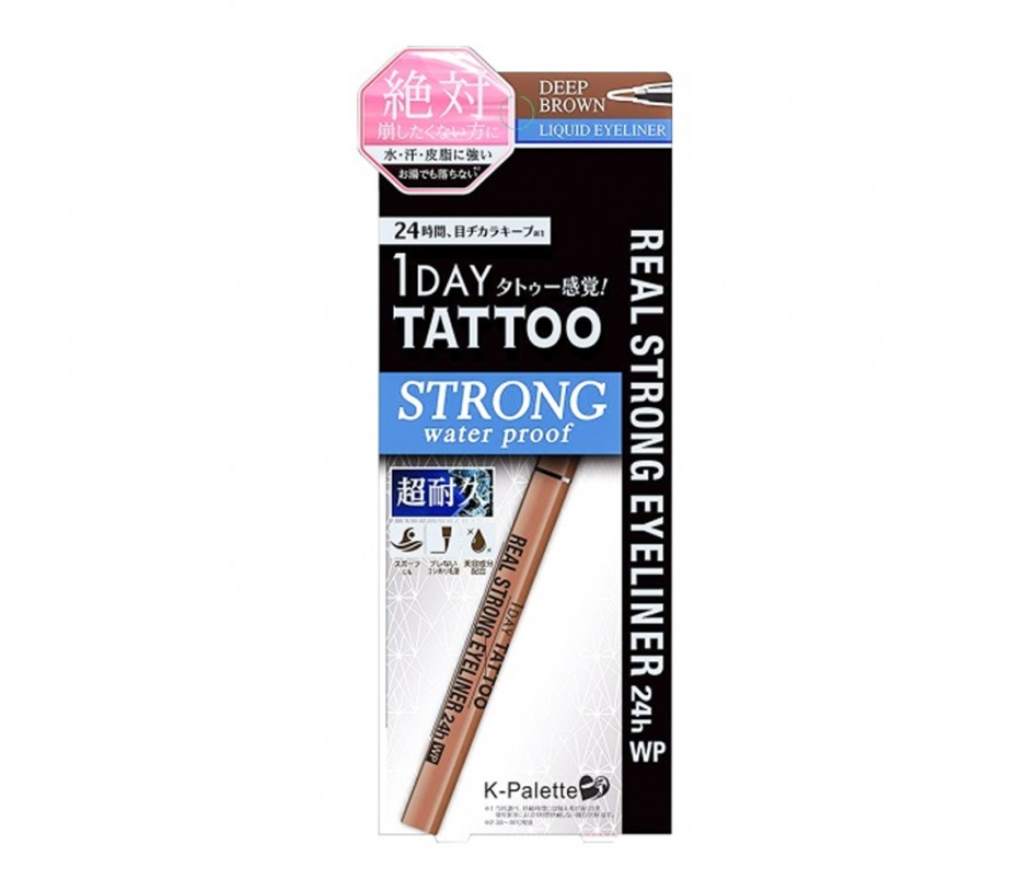 Cuore K-Palette 1 Day Tatoo Strong water proof Real Lasting Eyeliner 24h (Deep Brown)