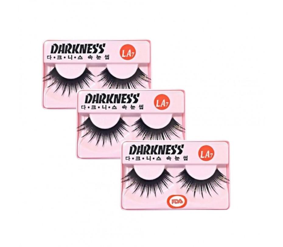 Darkness eyelashes LA7 3pcs
