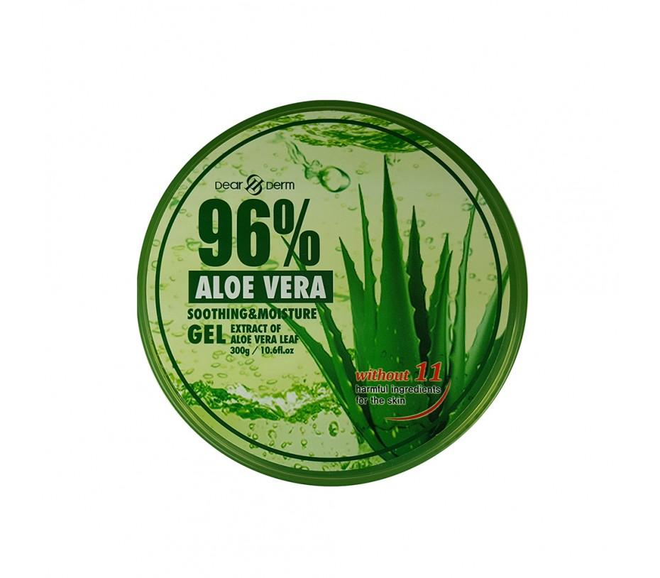 Dearderm 96% Aloe Vera Soothing & Moisture Gel 10.58fl.oz/313ml