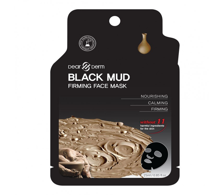 Dearderm BLACK MUD FIRMING FACE MASK (1 pcs) 0.85fl.oz/25.1ml