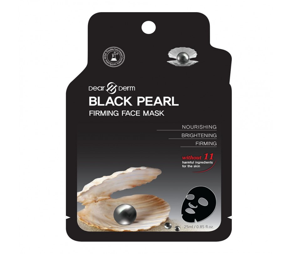 Dearderm BLACK PEARL FIRMING FACE MASK (1 pcs) 0.85fl.oz/25.1ml