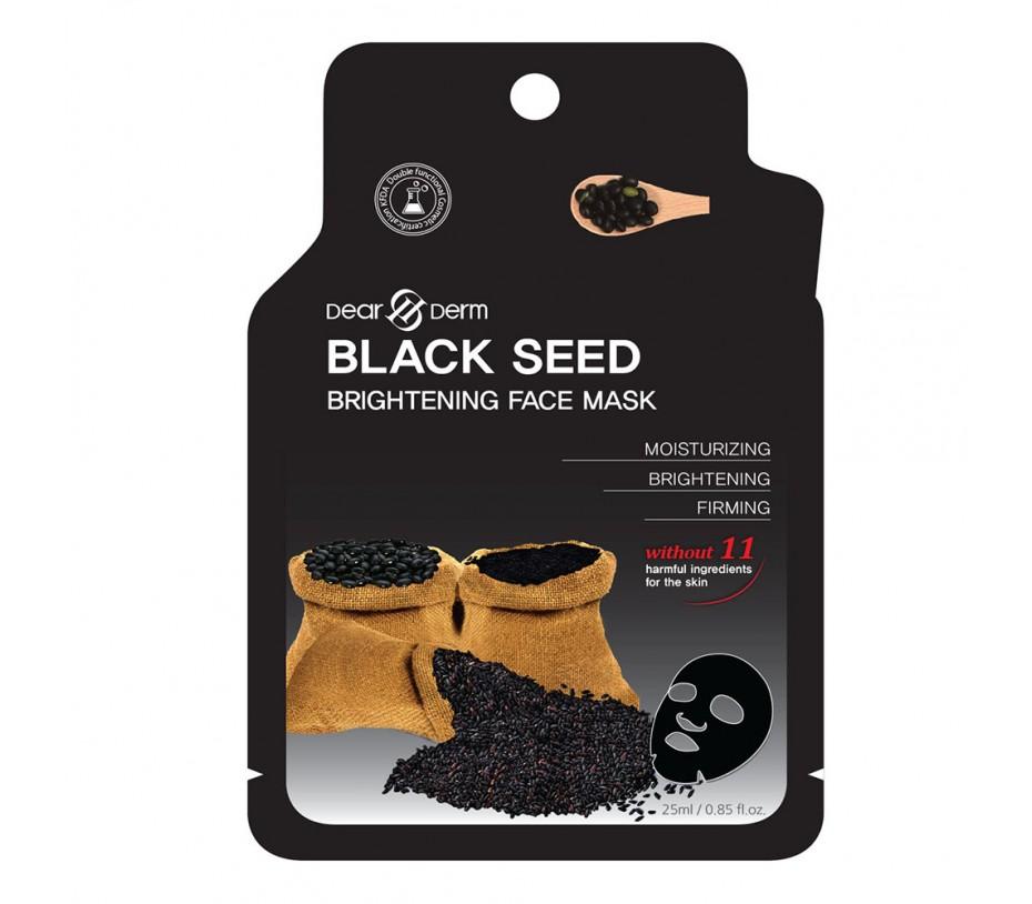 Dearderm BLACK SEED BRIGHTING FACE MASK (1 pcs) 0.85fl.oz/25.1ml