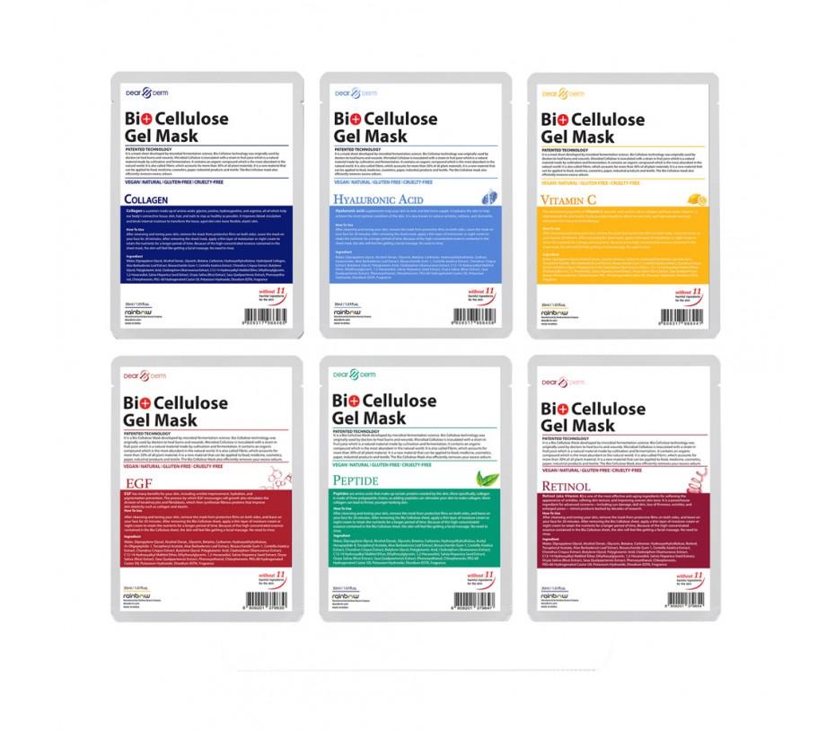 Dearderm Bio Cellulose Gel Mask 6pcs Set Assorted 0