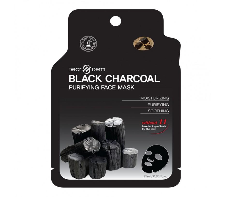 Dearderm Black Charcoal Purifying Mask (1pc) 0.85fl.oz/25ml