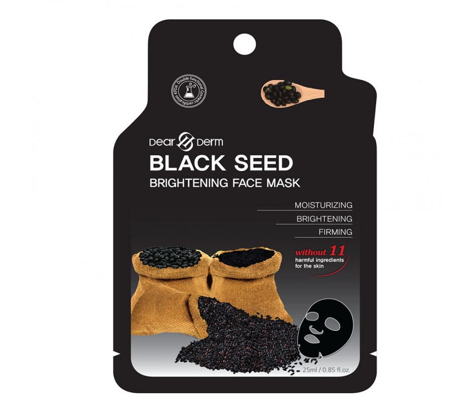 Dearderm Black Seed Brighting Mask (1pc) 0.85fl.oz/25ml