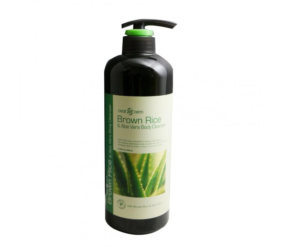 Dearderm Brown Rice & Aloe Vera Body Cleanser 27oz/765g