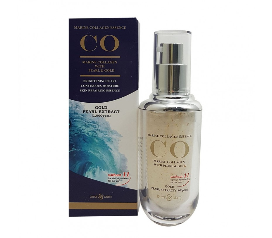 Dearderm CO Marine Collagen Essence with Pearl & Gold 1.35fl.oz/40ml