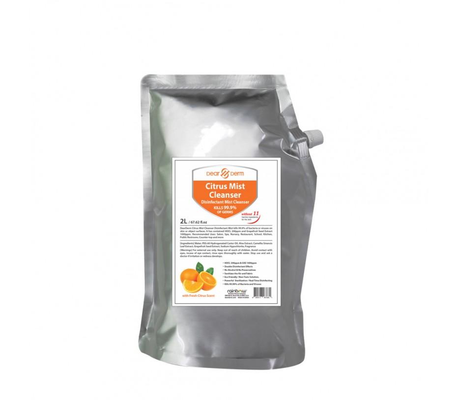 Dearderm Citrus Mist Cleanser Disfectant Mist 67.62fl.oz/2L