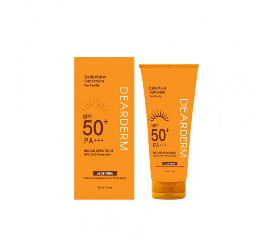 Dearderm Daily Moist Sunscreen SPF50+ PA+++ 3fl.oz/88ml