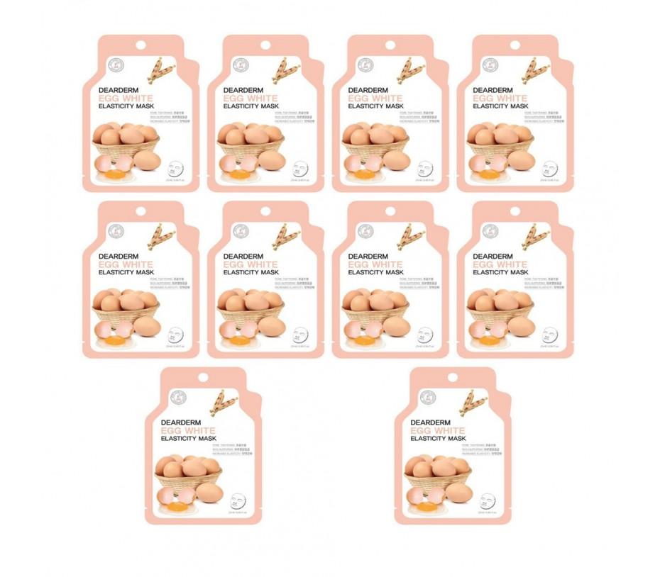 Dearderm Egg Elasticity Mask (10pcs)