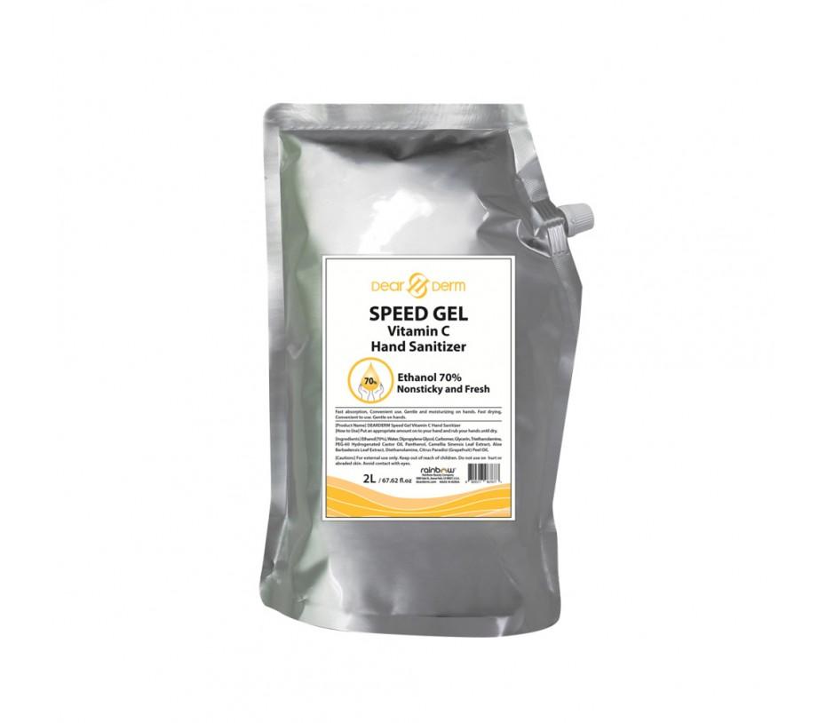 Dearderm Speed Gel Vitamin C Hand Sanitizers Refill 67.62fl.oz/2L