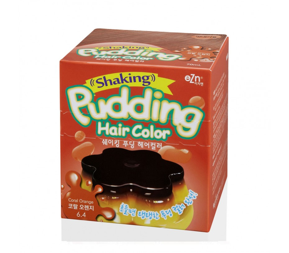 Dongsung eZn Shaking Pudding Hair Color (Coral Orange 6.4) 2.37oz/67g
