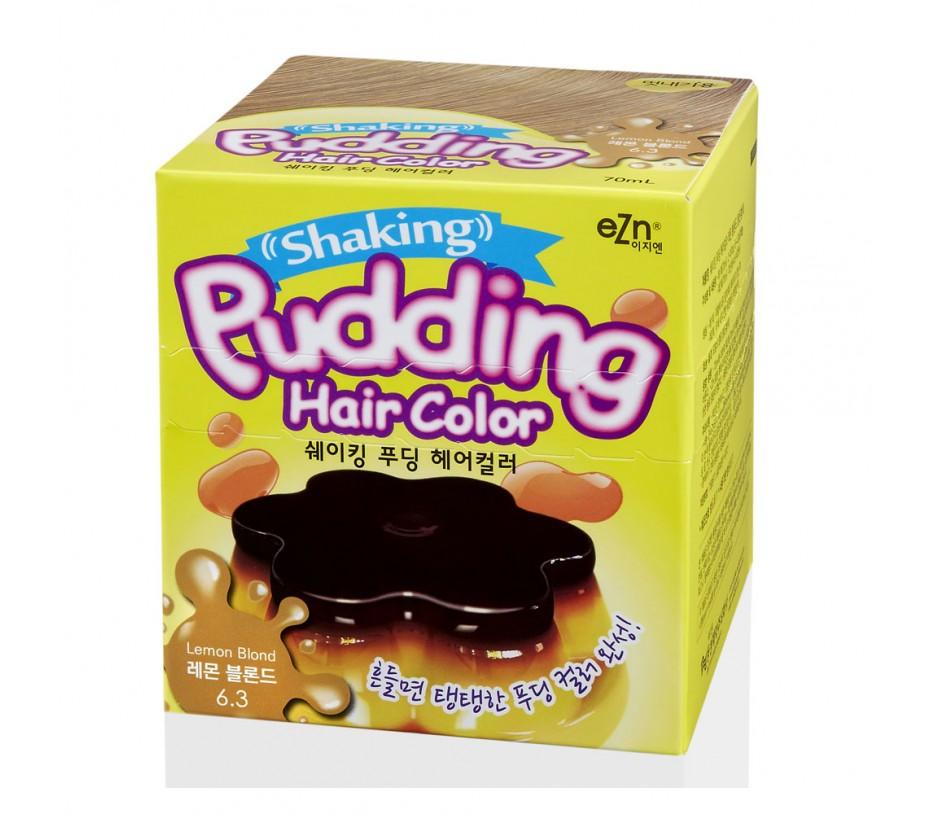 Dongsung eZn Shaking Pudding Hair Color (Lemon Blonde 6.3) 2.37oz/67g