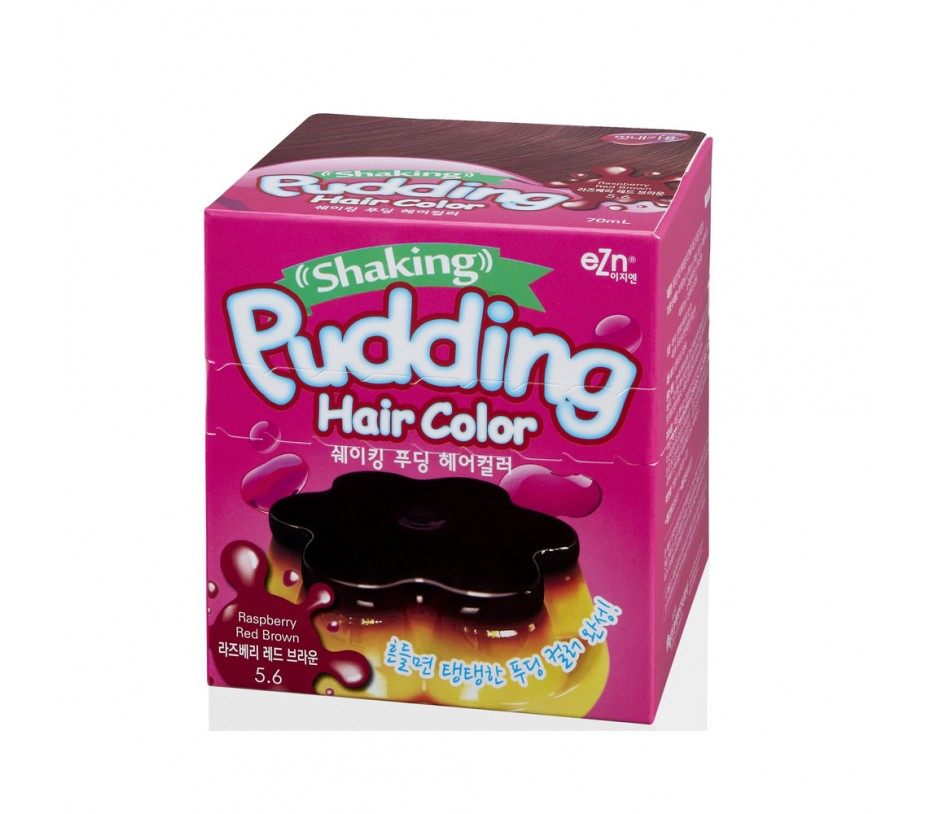 Dongsung eZn Shaking Pudding Hair Color (Raspberry Red Brown 5.6) 2.37oz/67g