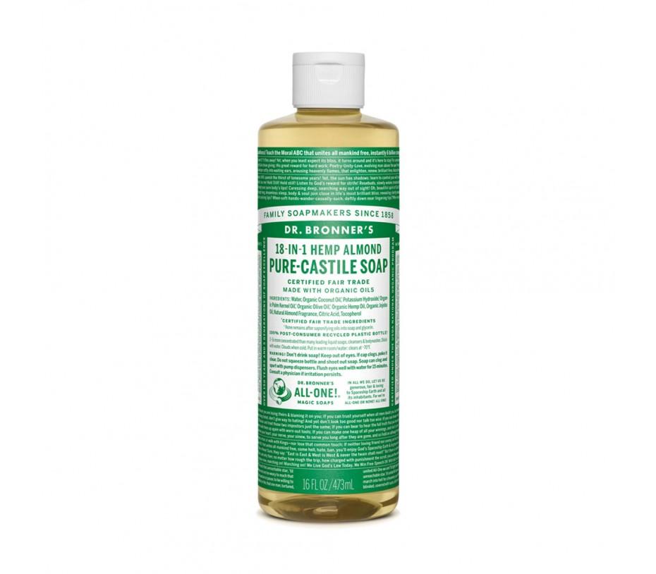 Dr. Bronner's Magic Soaps Almond Pure Castile Classic Soap 16fl.oz/473ml