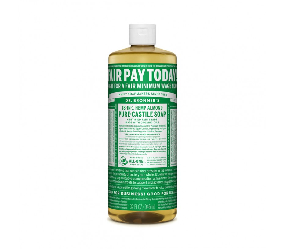 Dr. Bronner's Magic Soaps Almond Pure Castile Classic Soap 32fl.oz/946ml