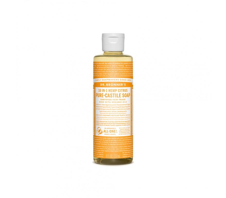 Dr. Bronner's Magic Soaps Citrus Pure Castile Classic Soap 8fl.oz/237ml