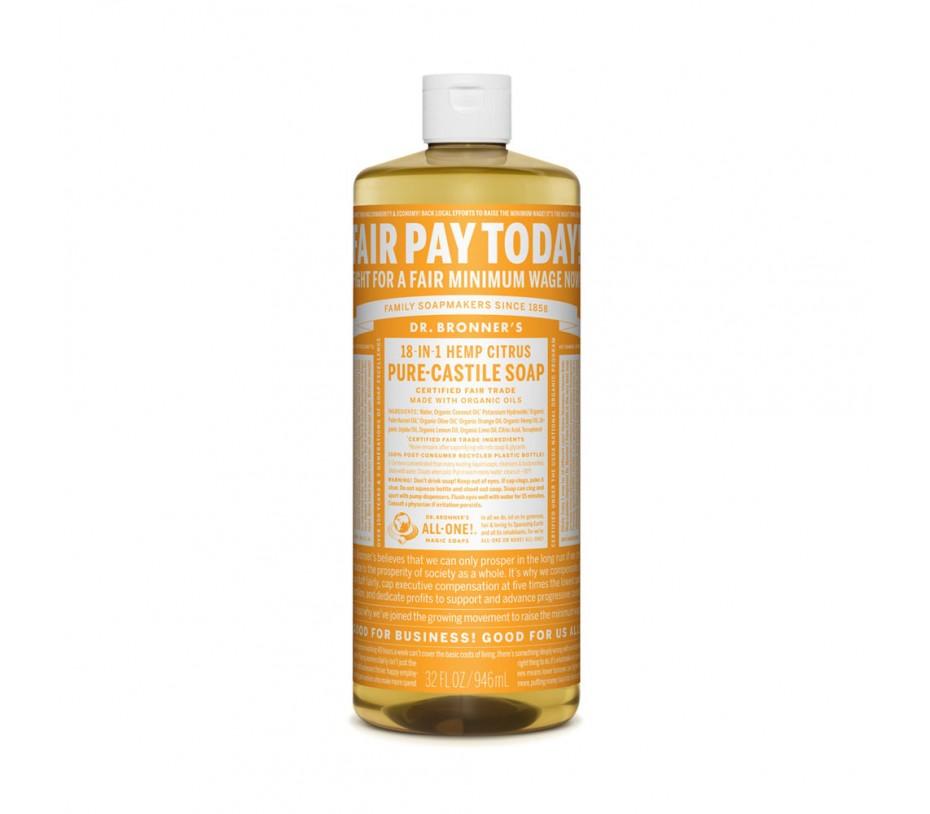 Dr. Bronner's Magic Soaps Citrus Pure Castile Classic Soap 32fl.oz/946ml