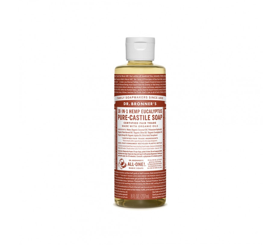 Dr. Bronner's Magic Soaps Eucalyptus Pure Castile Classic Soap 8fl.oz/237ml