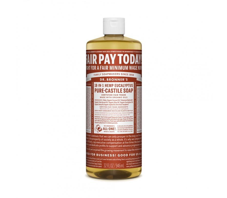 Dr. Bronner's Magic Soaps Eucalyptus Pure Castile Classic Soap 32fl.oz/946ml