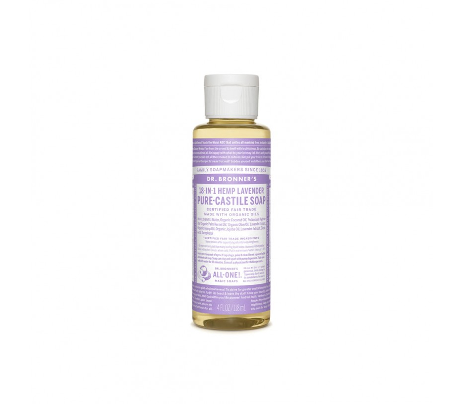 Dr. Bronner's Magic Soaps Lavender Pure Castile Classic Soap 4fl.oz/118ml