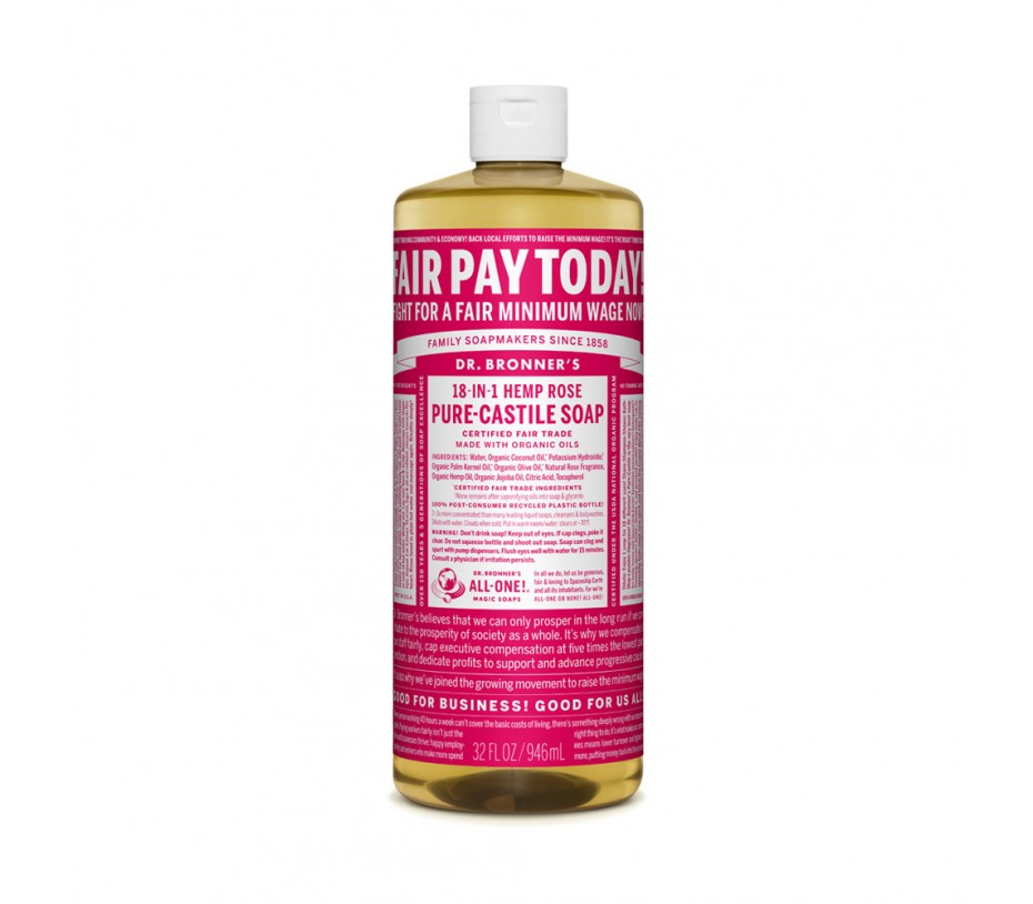 Dr. Bronner's Magic Soaps Rose Pure Castile Classic Soap 32fl.oz/946ml