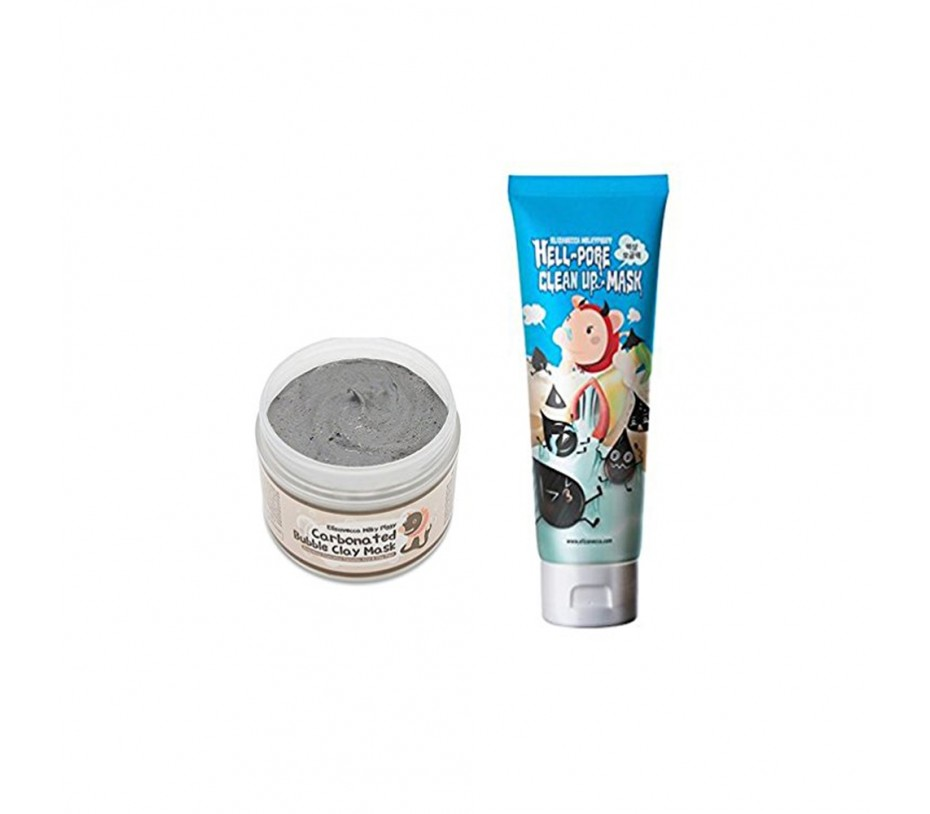 Elizavecca Hell-pore Clean up Mask + Milky Piggy Bubble Clay Mask