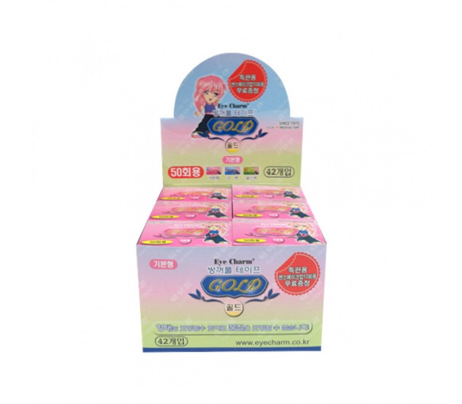 Eye Charm Double Eyelid Tape 50 pairs (Gold Basic Style) (42 Set Retail Display)