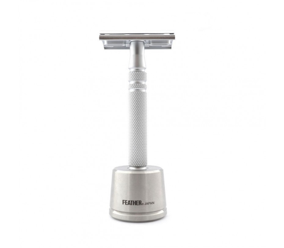 Feather All Stainless Razor (AS-D2S with Stand)