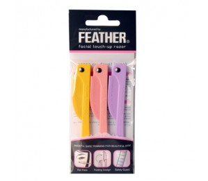 Feather Flamingo Facial Touch-up Razor 3pcs (RFLS-P)