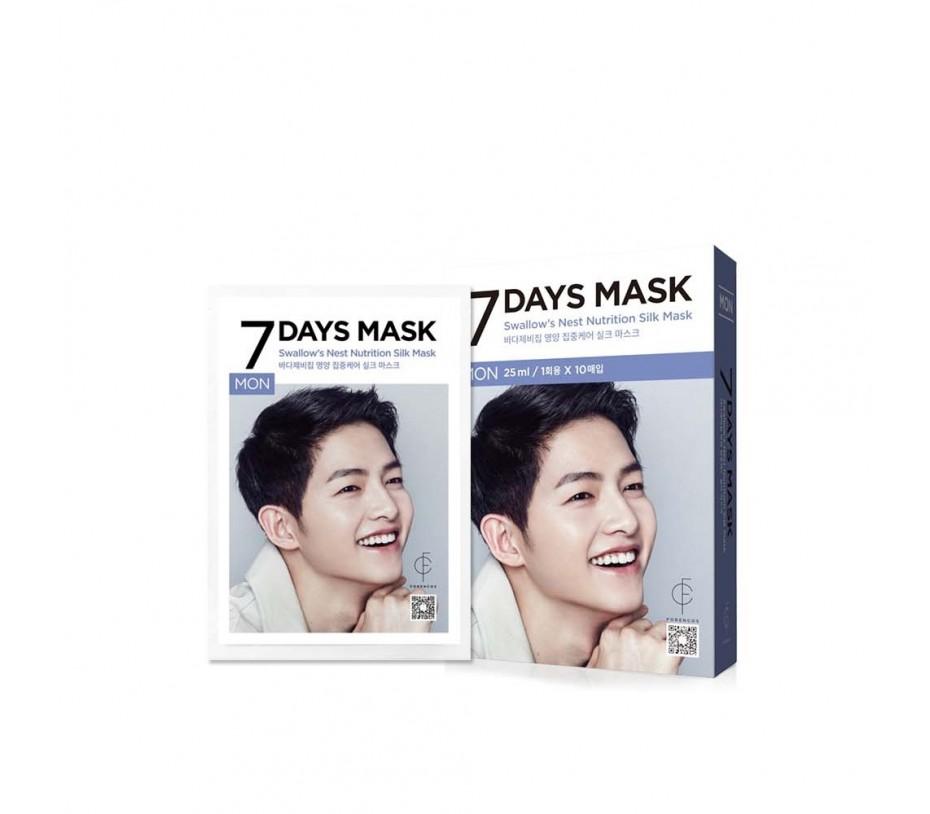 Forencos 7 Days Mask Monday Swallow's Nest Nutrition Silk Mask (10 Sheets) 0.84fl.oz/25ml