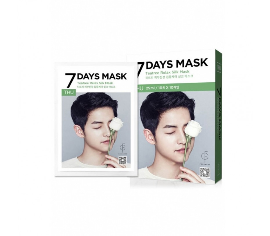Forencos 7 Days Mask Thursday Teatree Relax Mask (10 Sheets) 0.84fl.oz/25ml