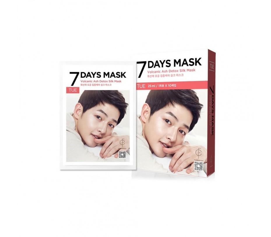 Forencos 7 Days Mask Tuesday Volcanic Ash Detox Silk Mask (10 Sheets) 0.84fl.oz/25ml